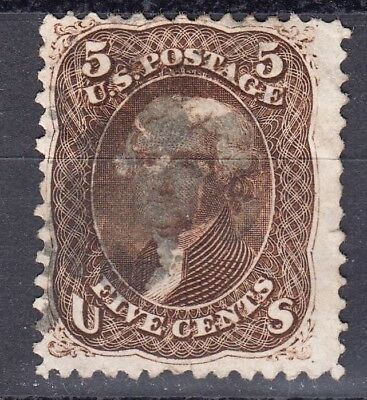 US  # 76a Dark Bown  VFused  series 1861-66, cv=$ 400