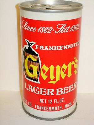 """GEYER'S LAGER BEER """"FRANKENMUTH""""  S/S Beer Can C266"""