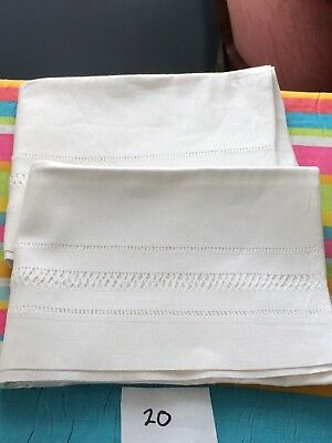 Pair of Vintage French Linen/ Metis Pillowcases