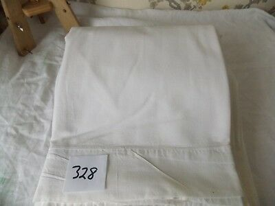 Vintage French Linen/metis Sheet  - 2.06mW x 2.90mL