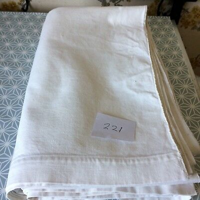 Vintage French Linen Sheet  - 2.00mW x 2.90mL