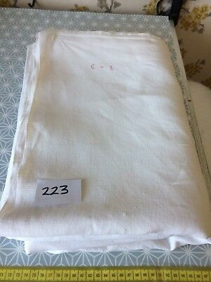 Vintage French Linen Sheet  - 2.12mW x 3.18mL