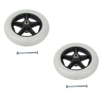 """2 PCS Durable 8"""" Front Castor Wheels Rollator Wheelchair Wheels Replacement"""