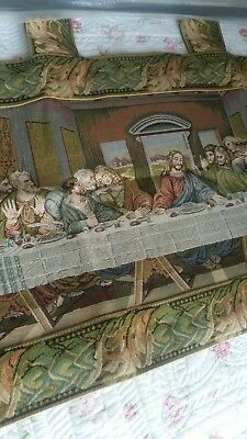 The Last Supper Belgian Tapestry with Tabs 46x86cm  plus extendable rod