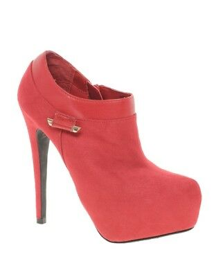 River Island Red Ellia Fas Ankle Boots size UK 5 EU38 with Free Heel Replacement