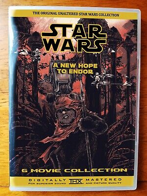 The Unruined / Despecialized  Star Wars Trilogy on Bluray + Ewok Films on DVD