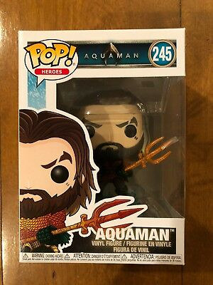 Funko Pop Heroes: Aquaman - Arthur Curry in Hero Suit Collectible Figure - New