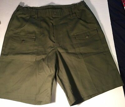 Vintage Boy Scouts of America Official Uniform Adult Mens Green Shorts Size 36