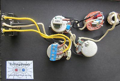 SG Harness Custom Wired / Varitone Switch, Bass Cut Pot Solderless KellingSound