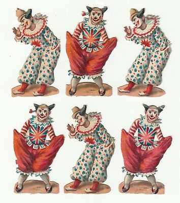 Oblaten scrap die cut chromo  /  Komic Clown 5 cm