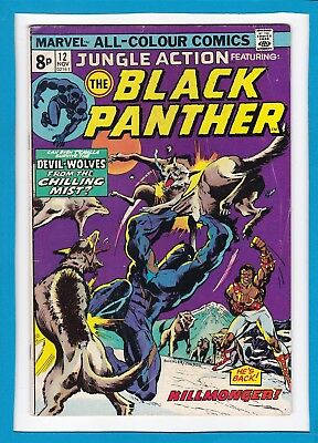 Jungle Action #12_November 1974_Very Good/fine_Black Panther_Bronze Age Uk!