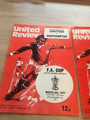 Manchester United Home & Away FA & League Cup Programme Collection 1970's & 80's