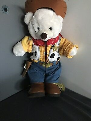 Authentic Rare Woody From Toy Story Build A Bear With Outfit Like New
