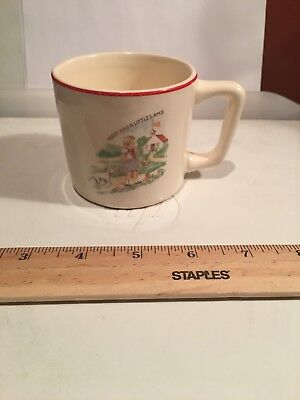 Vintage CHILD'S NURSERY RHYME CUP Mary Had a Little Lamb