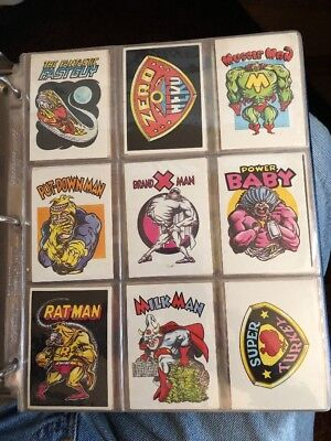 Zero Heroes Complete Trading Card Sticker Set (66) Donruss / General Mills 1983