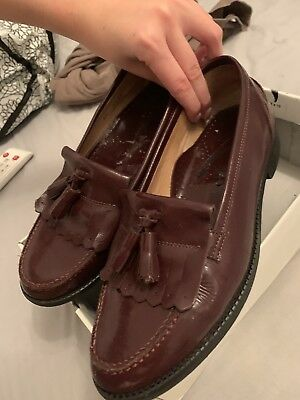 Burgandy Russell And Bromley Loafers Size 39