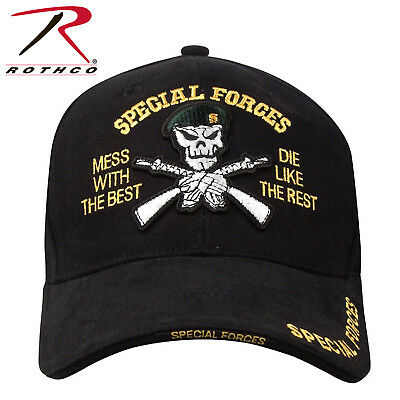 889e0e15906 Deluxe Special Forces Insignia Skull Military Army Baseball Cap Hat Rothco  9696