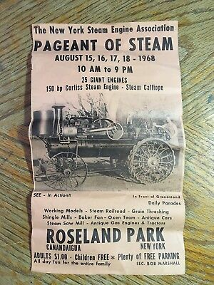Vintage 1968 New York Steam Engine Ass'n Poster * Pageant of Steam NY