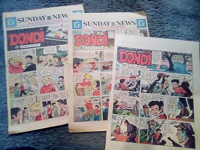 DONDI by Irwin Hasen - 23 Sunday Newspaper Comic Strips Clippings LOT