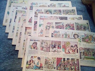 PRINCE VALIANT by Hal Foster - 23 Sunday Newspaper Comic Strips Clippings LOT