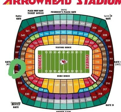 Sec 334 AFC CHAMPIONSHIP TICKETS KC CHIEFS VS NEW ENGLAND PATRIOTS 2 tickets