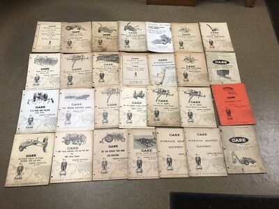 Lot of 28 Vintage Collector Case Cultivator, Row/Drill Planters Parts Catalogs