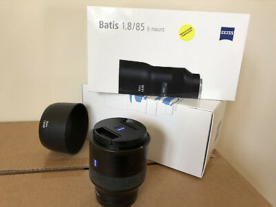 Zeiss 85mm Batis F1.8 Sony E mount Lens very low use