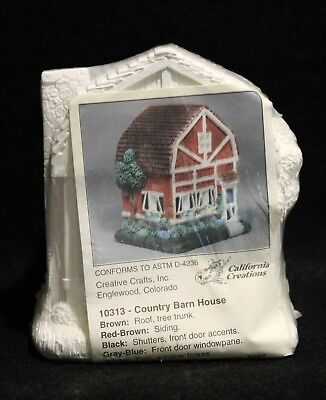 California Creations COUNTRY BARN HOUSE Village Home 10313 Ready To Paint SEALED