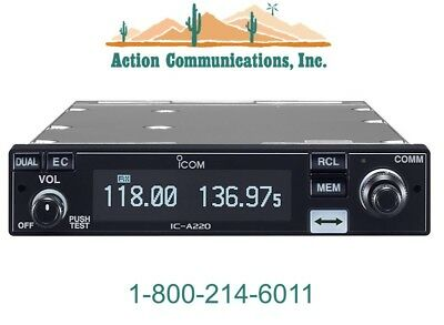 New Icom A220M, Vhf Air Band Transceiver With Mb-53