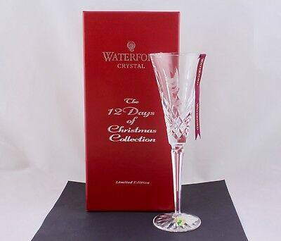 Waterford Crystal 12 Days Of Christmas 3Rd Ed Three French Hens Flute - Mint