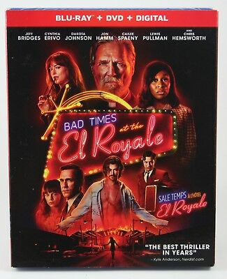 Bad Times at the El Royale Blu-ray + DVD + Digital Copy BRAND NEW Slipcover