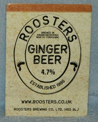 Roosters Ginger Beer pump clip front