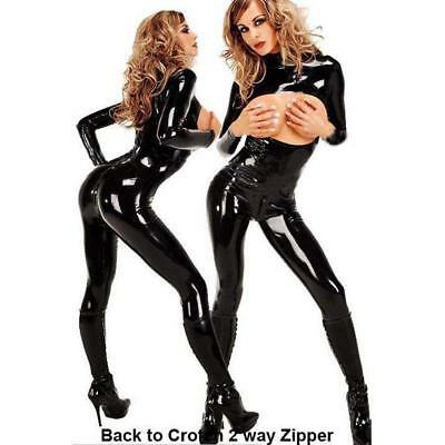 SEXY WETLOOK CATSUIT / latex lack leder domina dress gothic bondage bdsm kleid