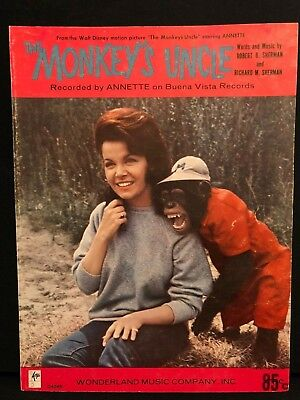 Monkey's Uncle Annette Funicello Beach Boys Disney sheet music Sherman Brothers!