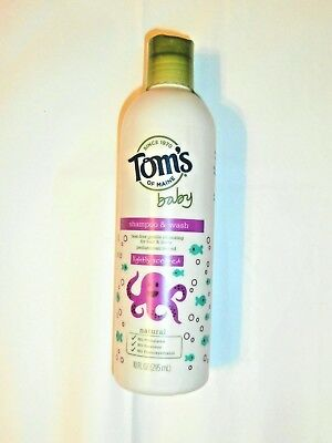 Tom's of Maine Baby Shampoo & Wash Lightly Scented  Natural 10oz Tear Fear
