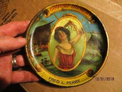 """FRED L PERRY VINTAGE GYPSY HOSIERY 6"""" ADVERTISING TRAY BY HARGADINE-McKITTRICK"""
