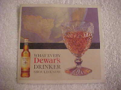 Brochure Dewar's White Label Blended Scotch Wiskey Illustrated glossy 10 pages