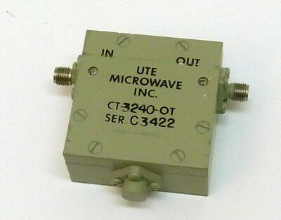 Isolator, UTE Microwave CT3240-OT, 2-4 GHz