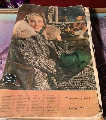 1940 / 41 Montgomery Ward Catalog Fall Winter 987 Pages