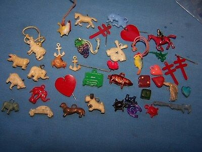 35 Vintage Prizes, Charms, Toys. Cracker Jacks, Etc.