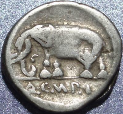 "81 BC ROMAN REPUBLIC Denarius ""METELLUS PIUS"" as >IMPERATOR< for SULLA vs MARIUS"