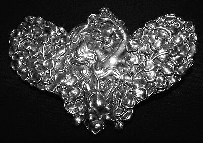 *UNGER BROTHERS* STERLING SILVER MMA Art Nouveau brooch Metropolitan Museum Art