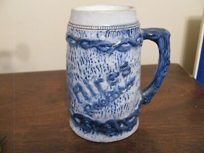 Hires Root Beer Advertizing Blue and Grey Mug Stein