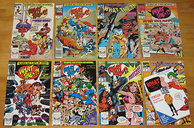 Marvel 1988-1992 WHAT THE...?! Lot Satire/Parody 8 Issues No. 1, 2, 3, 4, 6++ NR