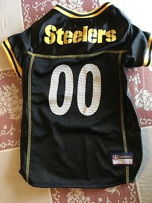 NFL Pittsburgh Steelers Black   Gold Pets First Dog Jersey Shirt~Large 465f12785
