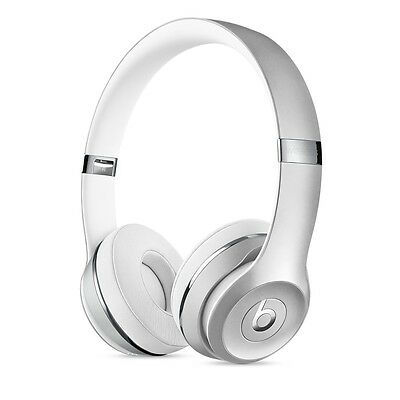 BRAND New BEATS BY DRE Solo 3 BLUETOOTH WIRELESS HEADPHONES - Metallic SILVER