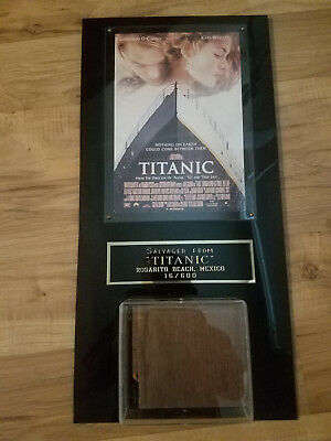 Framed and numbered Titanic decking Authentic Movie Prop! 1997 DICAPRIO WINSLET