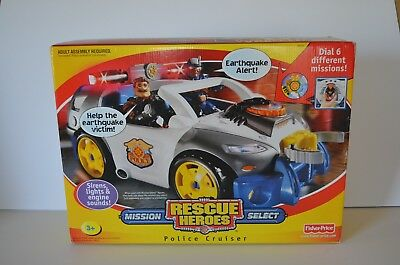Rescue Heroes Mission Select Police Cruiser B3056 2003 NEW in Box