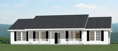 60x30 House -- 4 bedroom 3 Bath -- 1,800 sqft -- PDF Floor Plan -- Model 2A