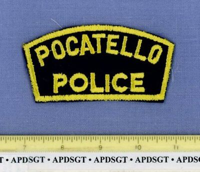 POCATELLO (Old Vintage) IDAHO Sheriff Police Patch CHEESECLOTH